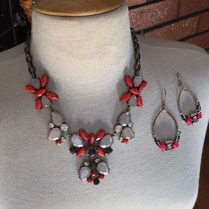 Francesca's chunky statement necklace set